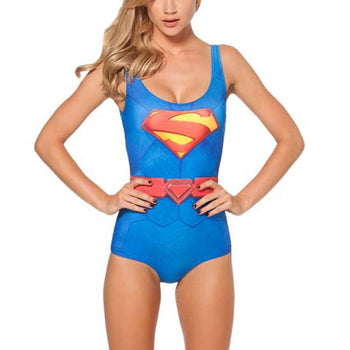 Supergirl Digital Print Scoop Neck Sleeveless Bodysuit for Women | DC Comics Super Heroes | DOTOLY