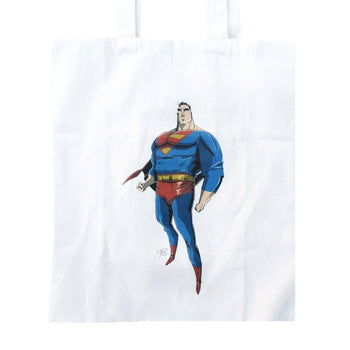 Superman Illustration Super Hero Canvas Shopper Tote Bag | DC Comics | DOTOLY