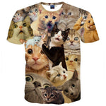 Surprised Kitty Cat Collage Photo Print Graphic Tee T-Shirt for Women | DOTOLY