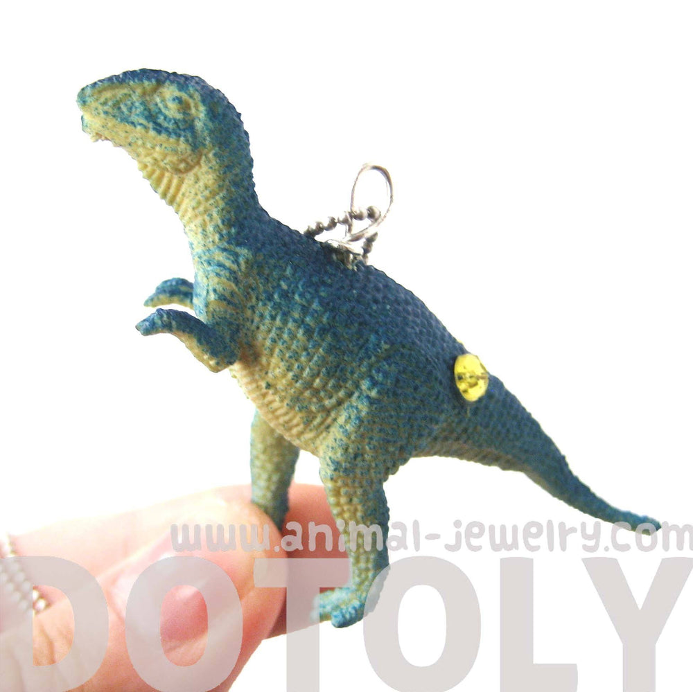 T-Rex Tyrannosaurus Dinosaur Shaped Pendant Necklace in Blue | Animal Jewelry | DOTOLY