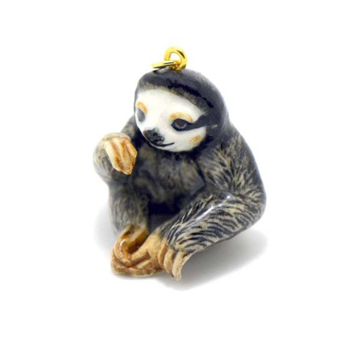 in gold realistic thumbnail img products charm baby shiny animal pendant sloth dotoly original necklace