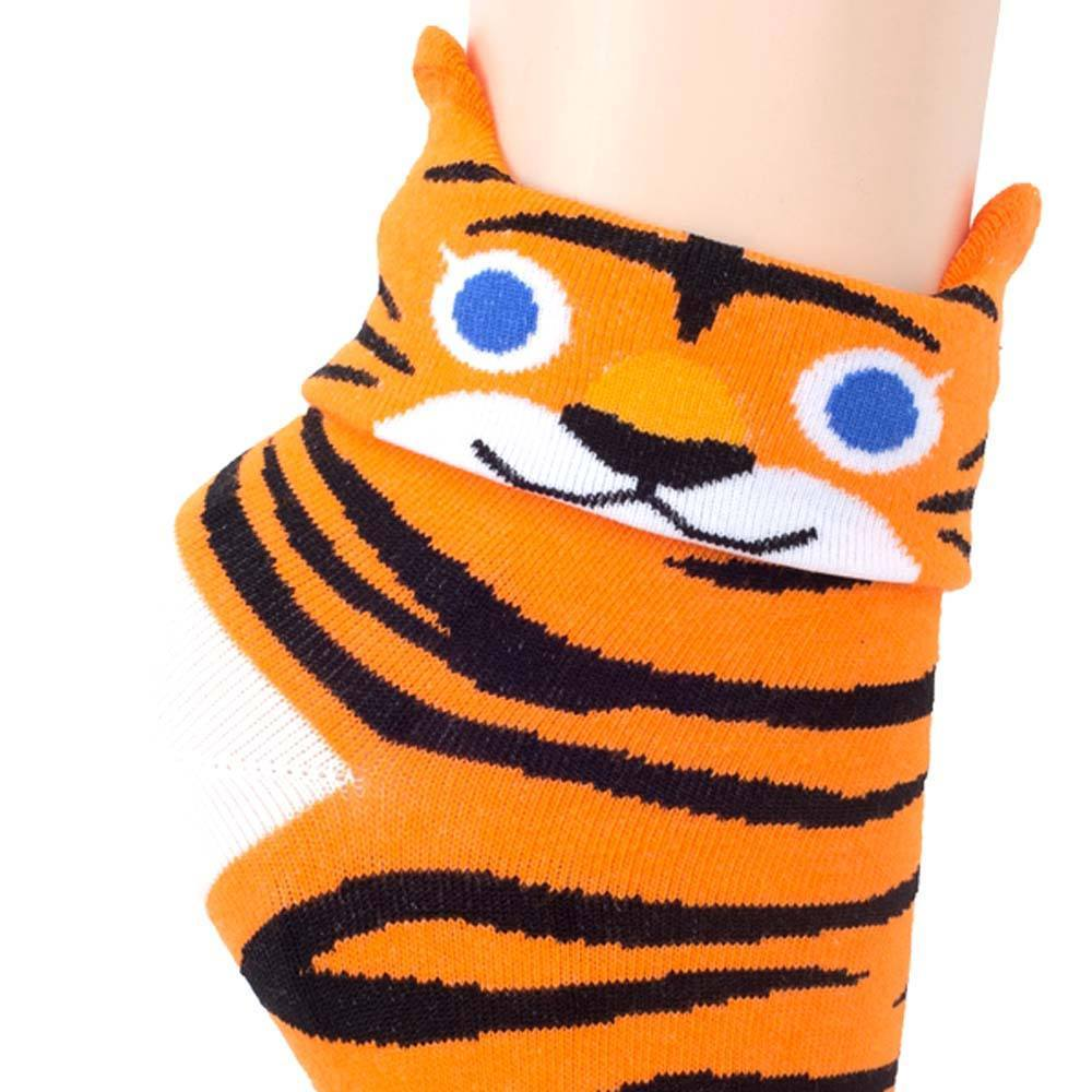 Tiger Shaped Cute Animal Short Cotton Socks for Women | DOTOLY | DOTOLY