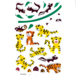 Tiger Skunk Sloth Cartoon Illustrated Animal Jelly Puffy Stickers for Scrapbooking | DOTOLY