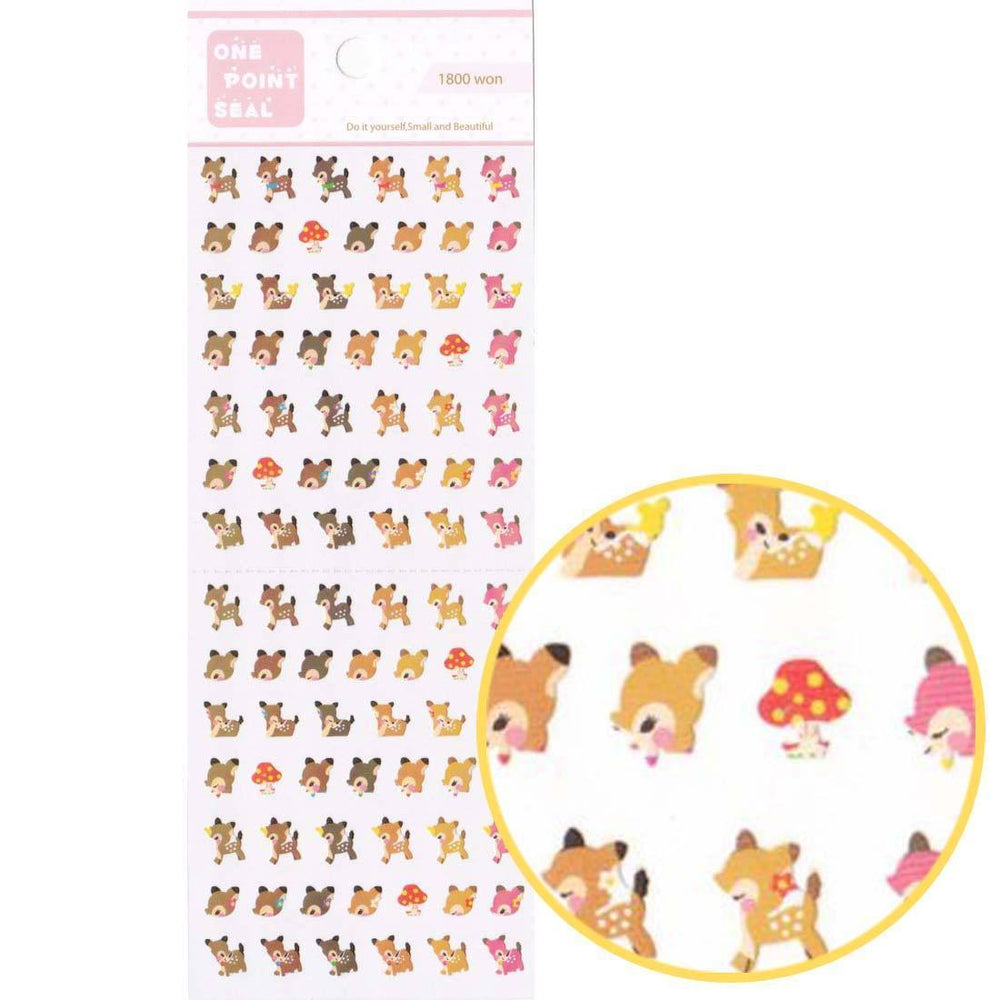 Tiny Deer Doe Bambi Shaped Animal Sticker Seals for Scrapbooking and Nail Art | DOTOLY