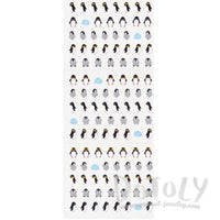 Tiny Emperor Penguin Shaped Animal Sticker Envelope Seals for Scrapbooking | DOTOLY