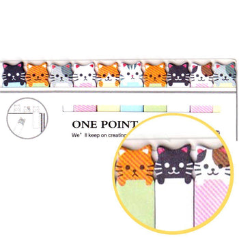 Tiny Kawaii Kitty Cat Shaped Animal Themed Sticky Post-it Memo Bookmark Tabs | DOTOLY