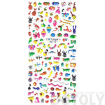 Tiny Mixed Insect Themed Beetle Butterfly Ant Snail Bug Shaped Puffy Stickers | DOTOLY