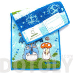 Tiny My Neighbor Totoro Umbrella Embroidered Handkerchief Towel | Studio Ghibli Japan | DOTOLY