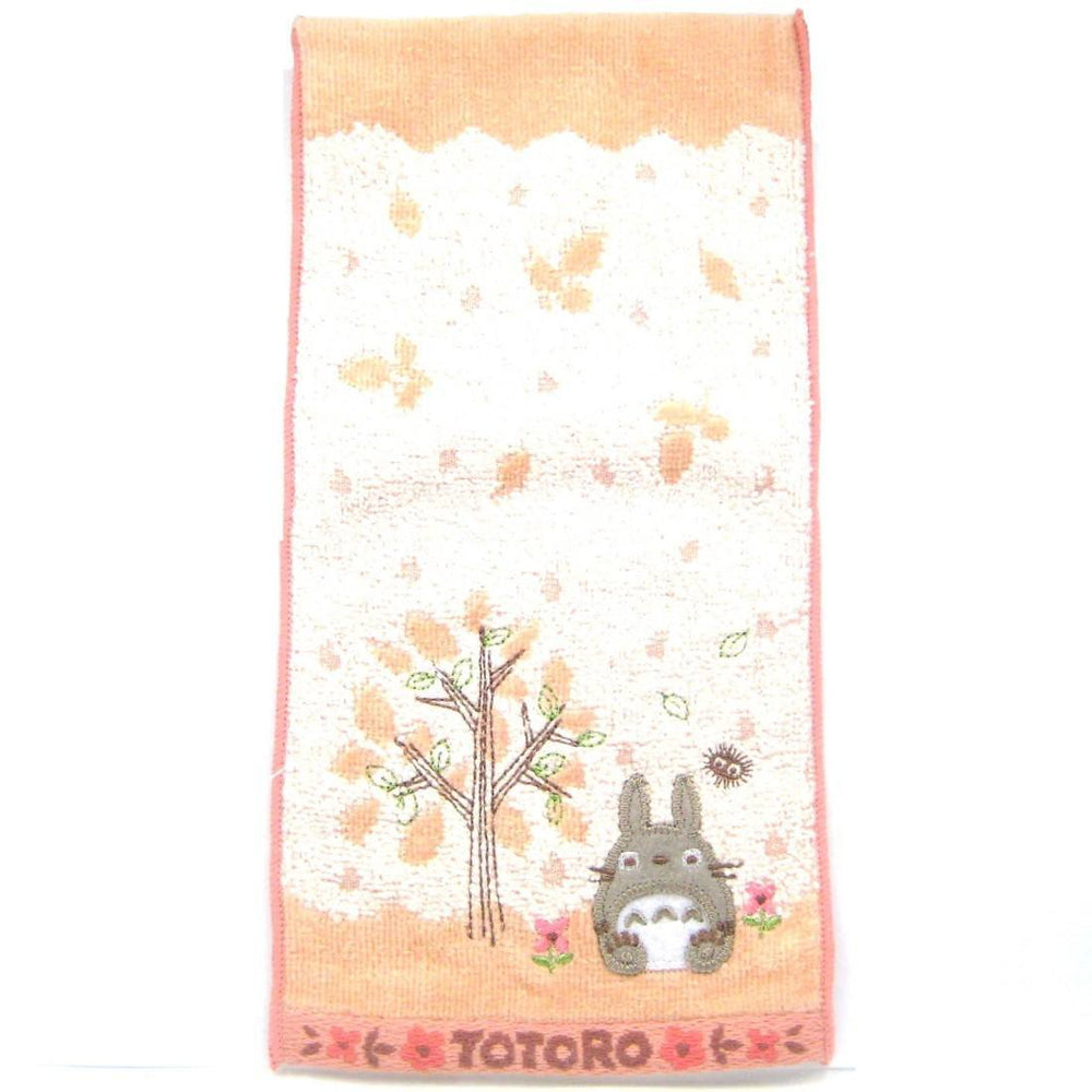 Small My Neighbor Totoro Embroidered Bath Wash Scrub Towel in Pink | Studio Ghibli Japan | DOTOLY