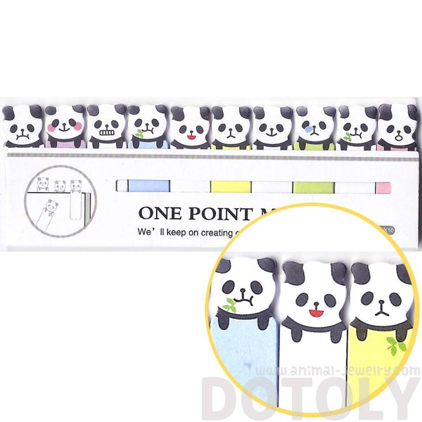 Tiny Panda Bear Shaped Animal Themed Sticky Post-it Memo Bookmark Tabs | DOTOLY