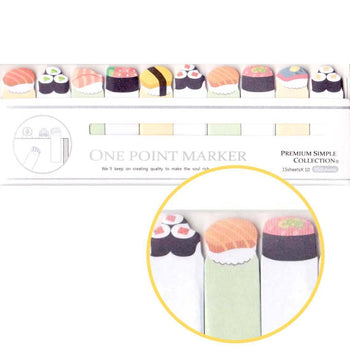 Tiny Sushi Roll Food Themed Memo Post-it Index Bookmark Tabs From Japan | DOTOLY