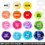 MEDIUM Sized Tissue Paper Pom Pom | Bridal, Baby Shower, Wedding, Party Nursery Decor | DOTOLY