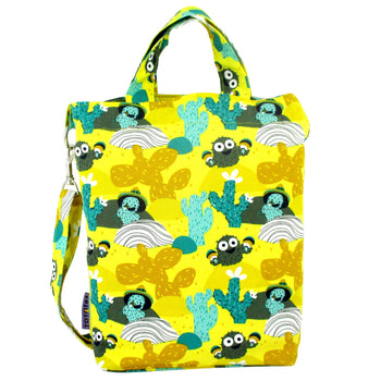 Yellow Cactus Desert Print Crossbody Duck Top Handle Tote Bag