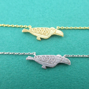 Tribal Macaw Parrot Silhouette Shaped Pendant Necklace | DOTOLY