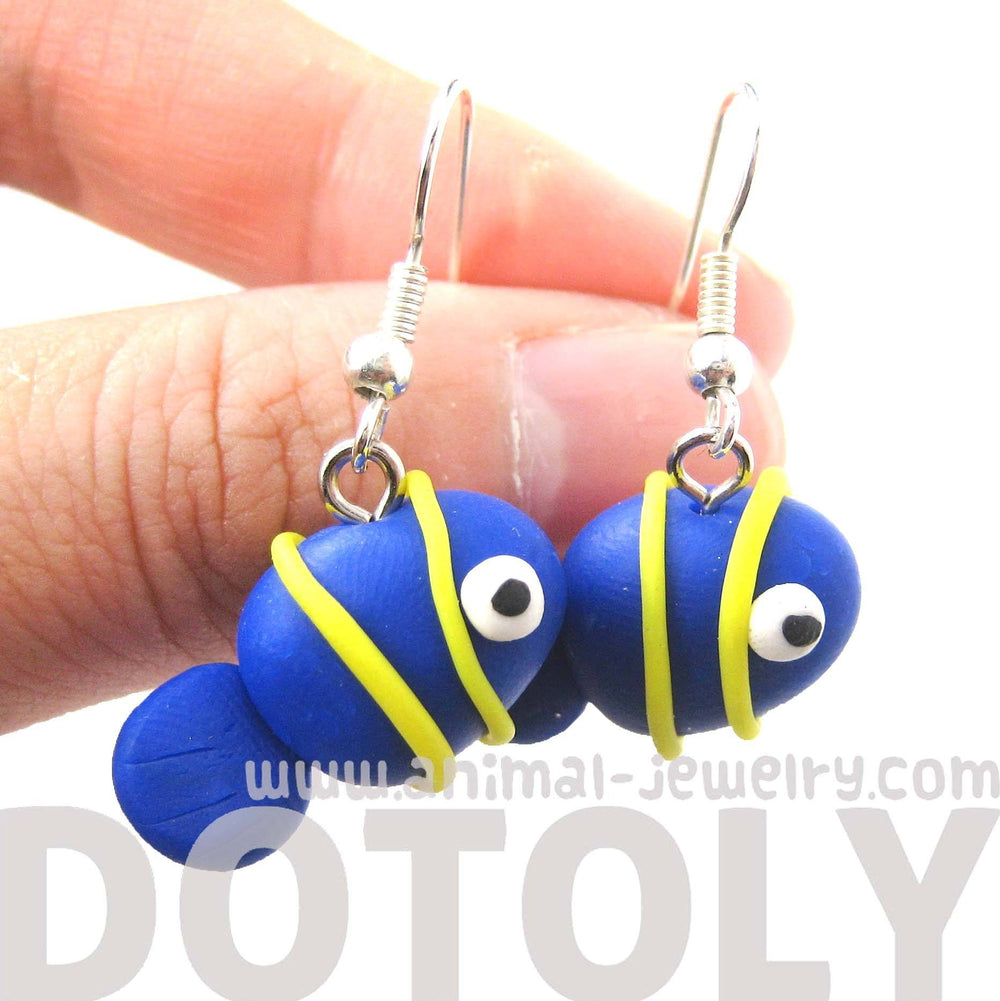 Tropical Fish Shaped Animal Themed Polymer Clay Dangle Earrings | DOTOLY | DOTOLY