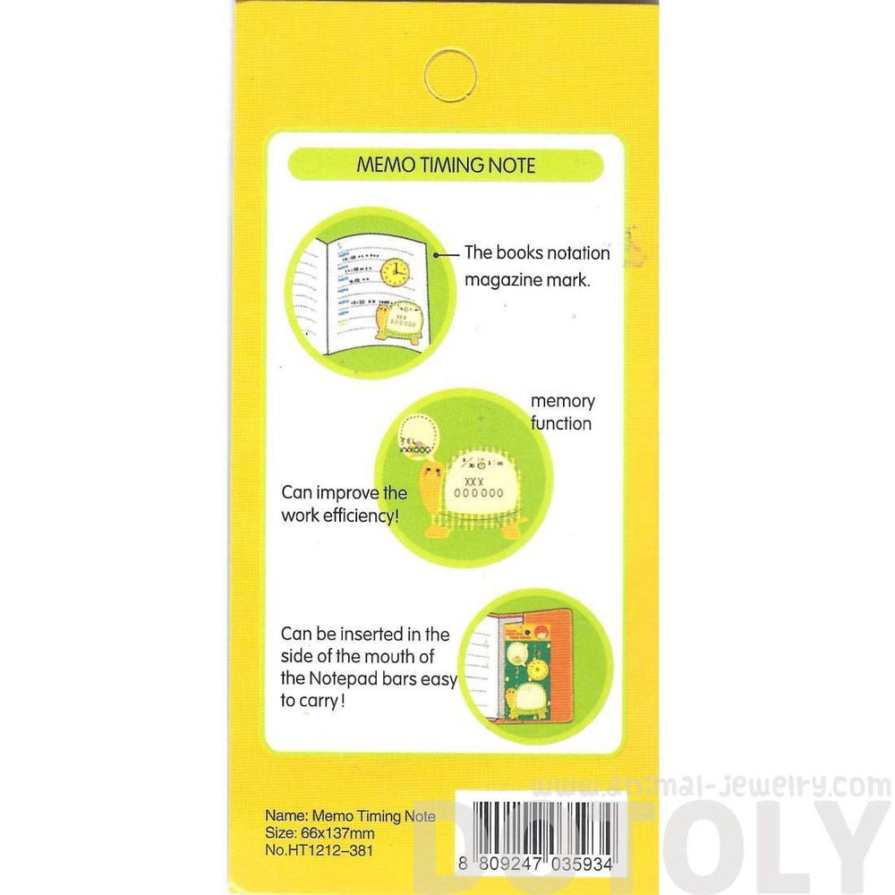 Turtle Speech Bubble and Clock Shaped Adhesive Post-it Memo Pad | DOTOLY | DOTOLY