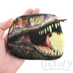 Tyrannosaurus Rex Dinosaur Shaped Coin Purse Make Up Bag | DOTOLY