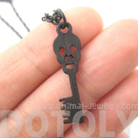 Unique Skeleton Skull Shaped Key Pendant Necklace in Black | DOTOLY | DOTOLY