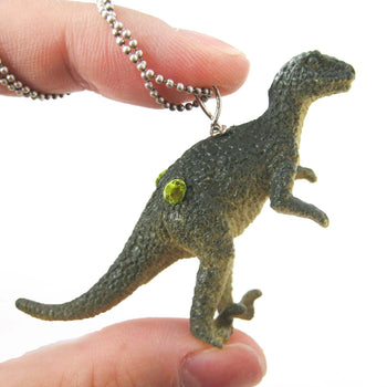 Velociraptor Raptor Dinosaur Shaped Pendant Necklace | Animal Jewelry | DOTOLY