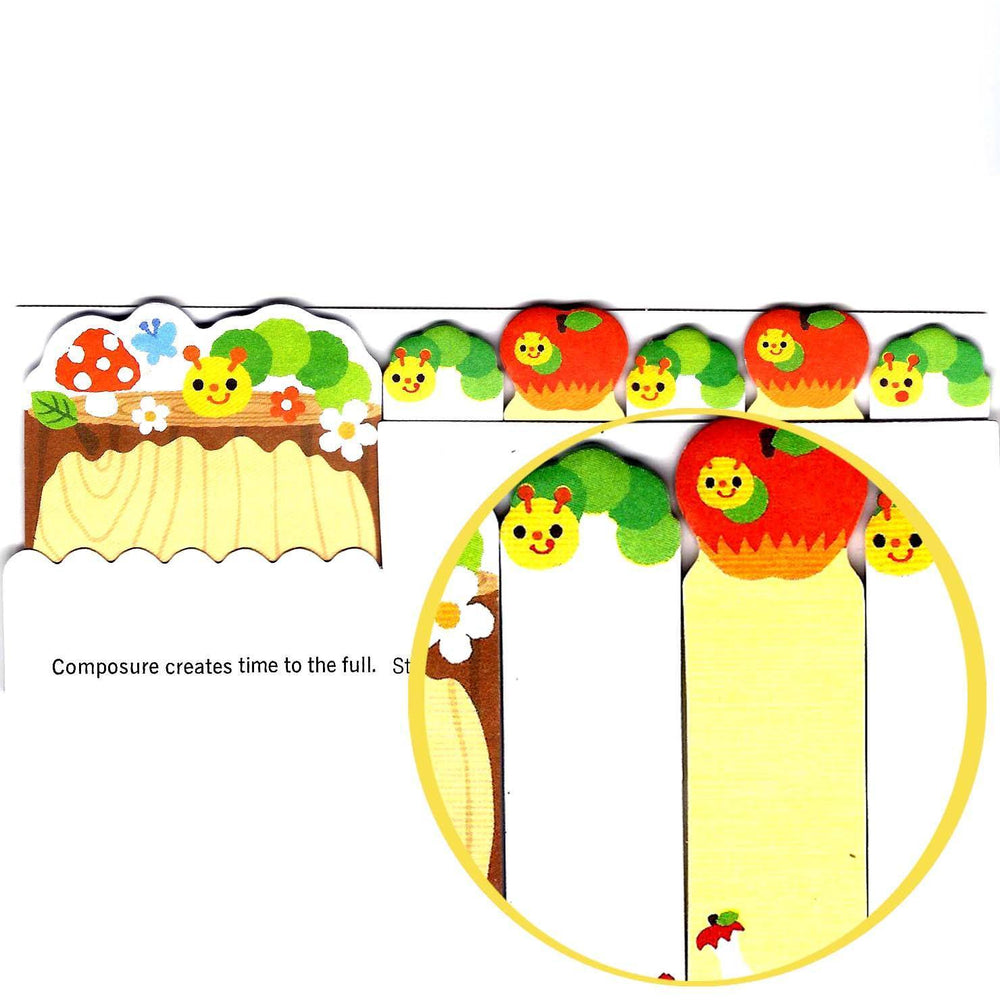 Very Hungry Caterpillar Illustrated Cute Memo Post-it Index Tab ...