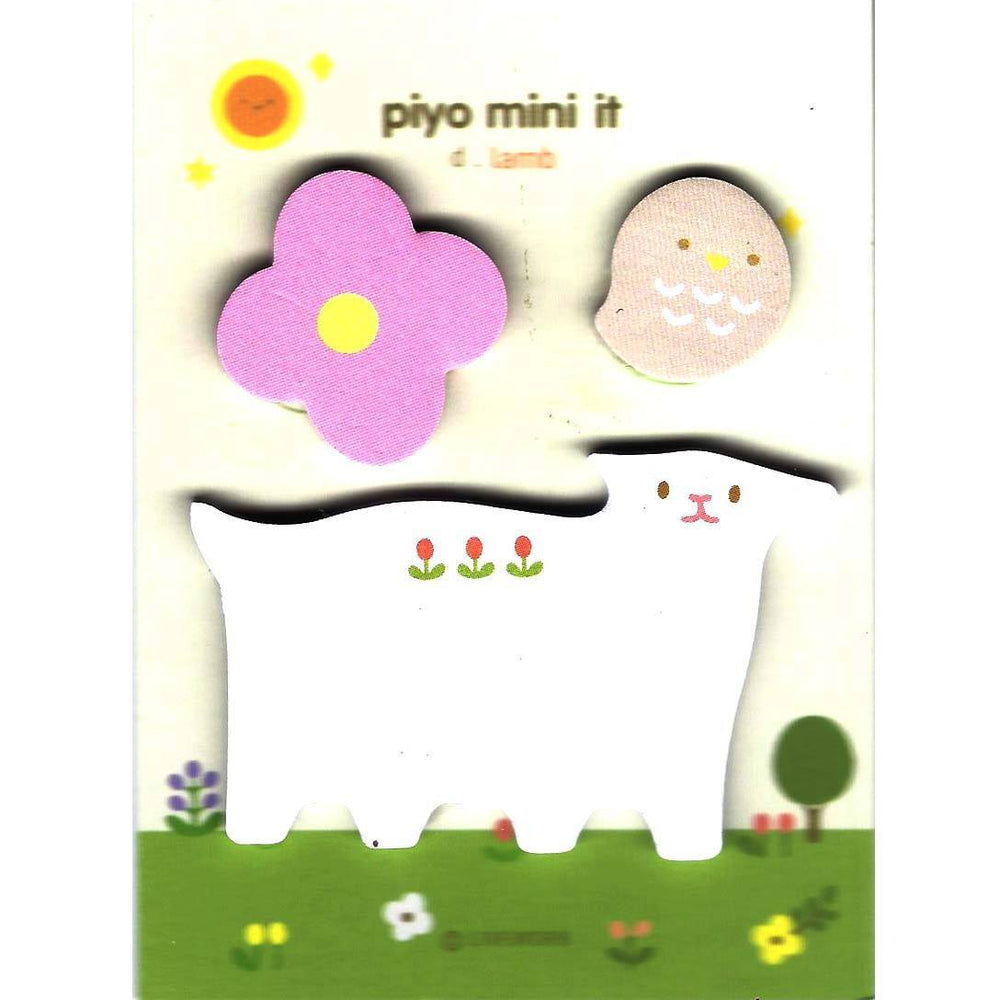 Whimsical Baby Lamb Sheep Bird and Flower Shaped Memo Post-it Adhesive Notepad | DOTOLY