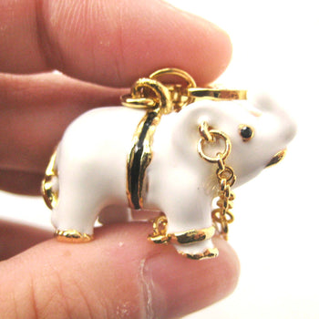 White Elephant Animal Pendant Necklace | Limited Edition Animal Jewelry | DOTOLY