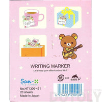 White Korilakkuma Teddy Bear on a Beach Chair Shaped Adhesive Post-it Memo Pads | DOTOLY