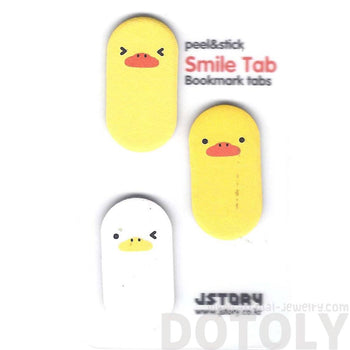 Yellow Baby Chick Bird Shaped Animal Themed Memo Post-it Sticky Bookmark Tabs | DOTOLY