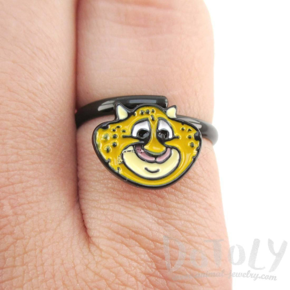 Zootopia Clawhauser Cheetah Shaped Adjustable Ring | DOTOLY | DOTOLY