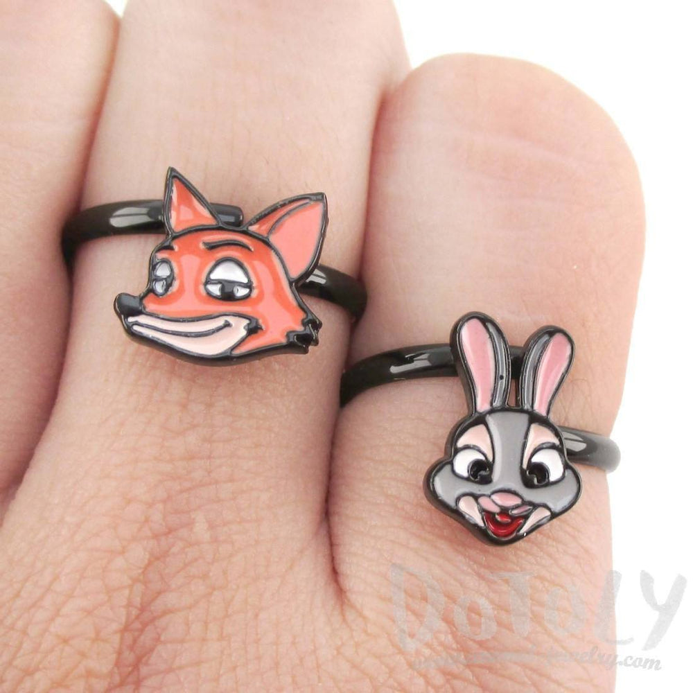 Zootopia Nick Wilde Red Fox Shaped Adjustable Ring | DOTOLY | DOTOLY