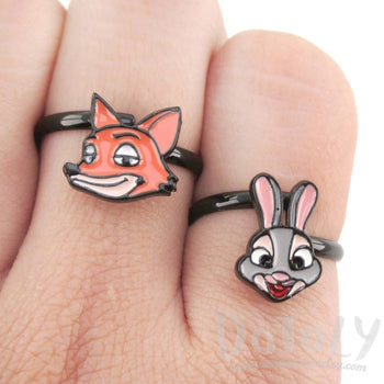 Zootopia Judy Hopps Bunny Rabbit Shaped Adjustable Ring | DOTOLY | DOTOLY