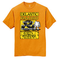 Artists, Poets & Madmen Tee - Orange