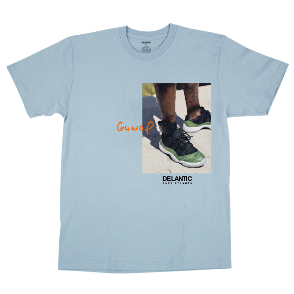 "Geordie Wood ""Ankle"" Tee - Light Blue"