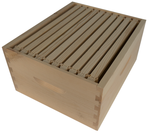 Deep Hive Box Assembled with 10 Frames and Plastic Foundation