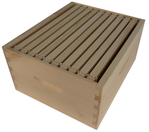 Deep Hive Box Assembled with 10 Frames and Foundation