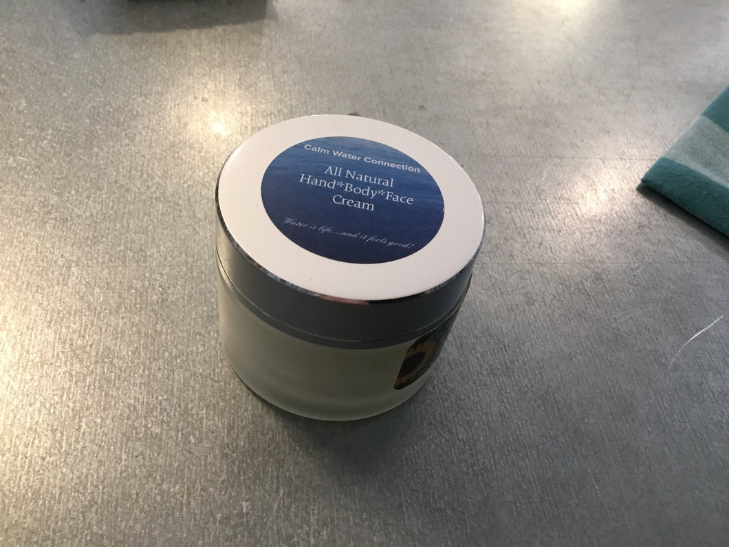 All natural hand body face skin cream