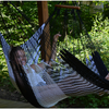 Hanging Hammock Chair (Black & White)