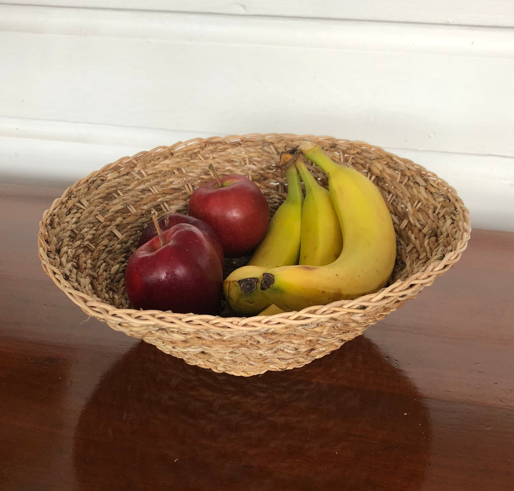 Banana Leaf Handwoven Basket