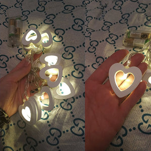 10 pcs LED Heart Shape String Lights