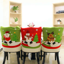 Colorful Santa Claus Christmas Chair Cover