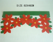 Christmas Flower Décor for Window Drape Panel
