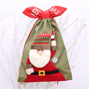 Santa Claus And Snowman Christmas Candy Gift Bag