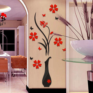 "DIY Home décor wall sticker ""Flower and Vase"""