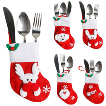 Cute And Colorful Christmas Fork/knife pouch or Ornament