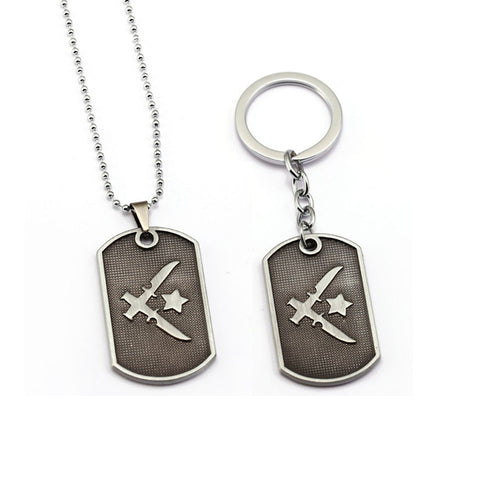 Counter Strike Global Offensive Keychain, Dog Tag