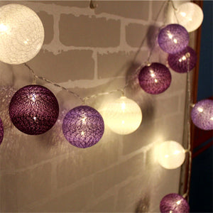 10/20/30 pcs LED Cotton Ball String Lights