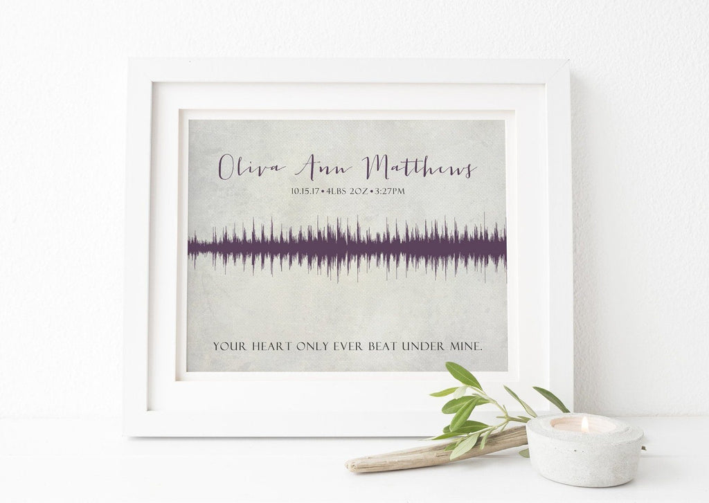Baby Heartbeat Soundwave Print Print A Beautiful Remembrance Printed by our lab & shipped to you 5x7