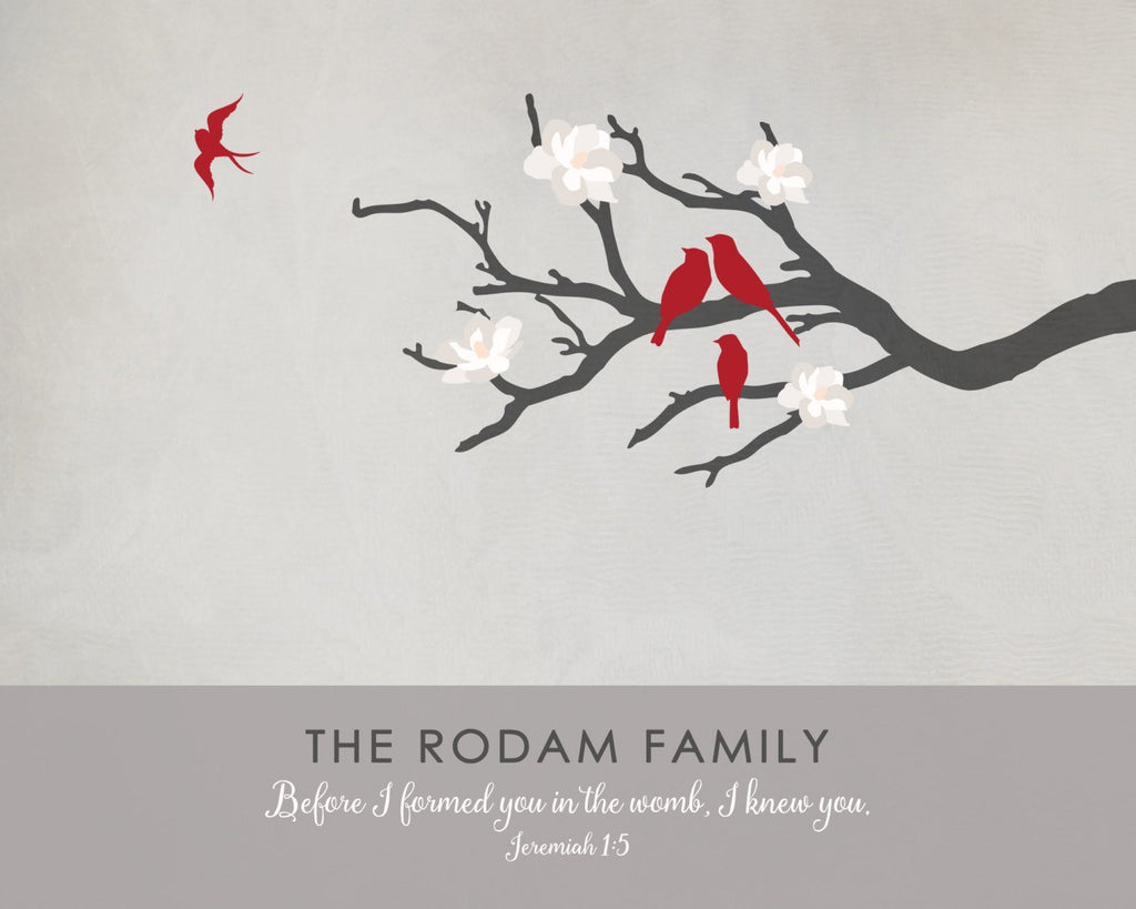 Family Tree Memorial Print Print A Beautiful Remembrance