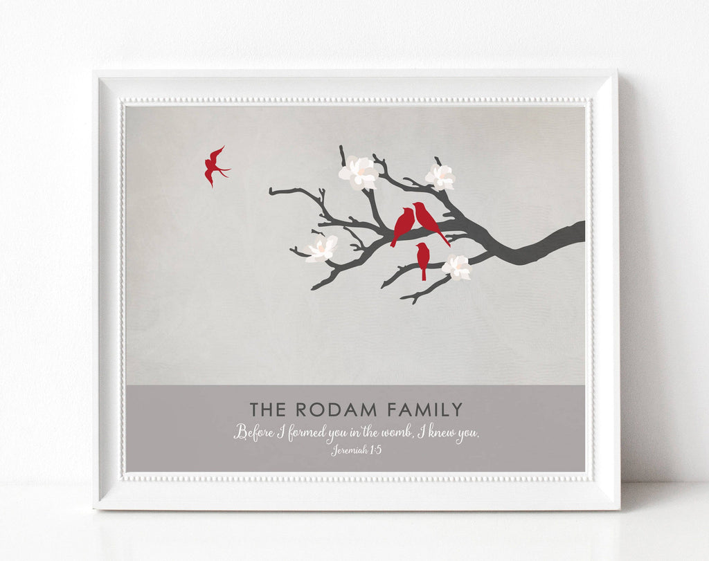 Family Tree Memorial Print Print A Beautiful Remembrance Printed by our lab & shipped to you 5x7