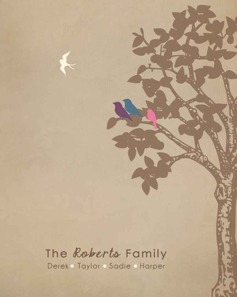 Family Tree Print, Infant Loss Keepsake, Baby Memorial Gift Print Print A Beautiful Remembrance